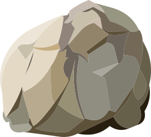 image black and white library Boulder clipart resources. Harvestable rock small image.