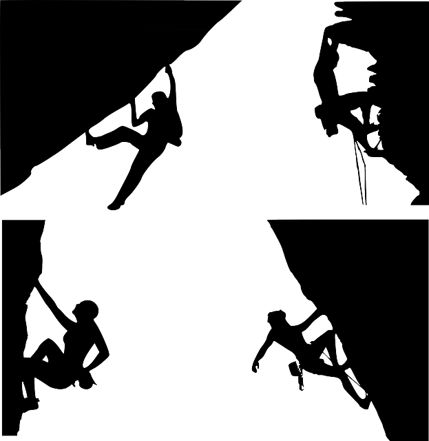 picture freeuse library Girl rock climbing outline. Climber clipart adventure story.