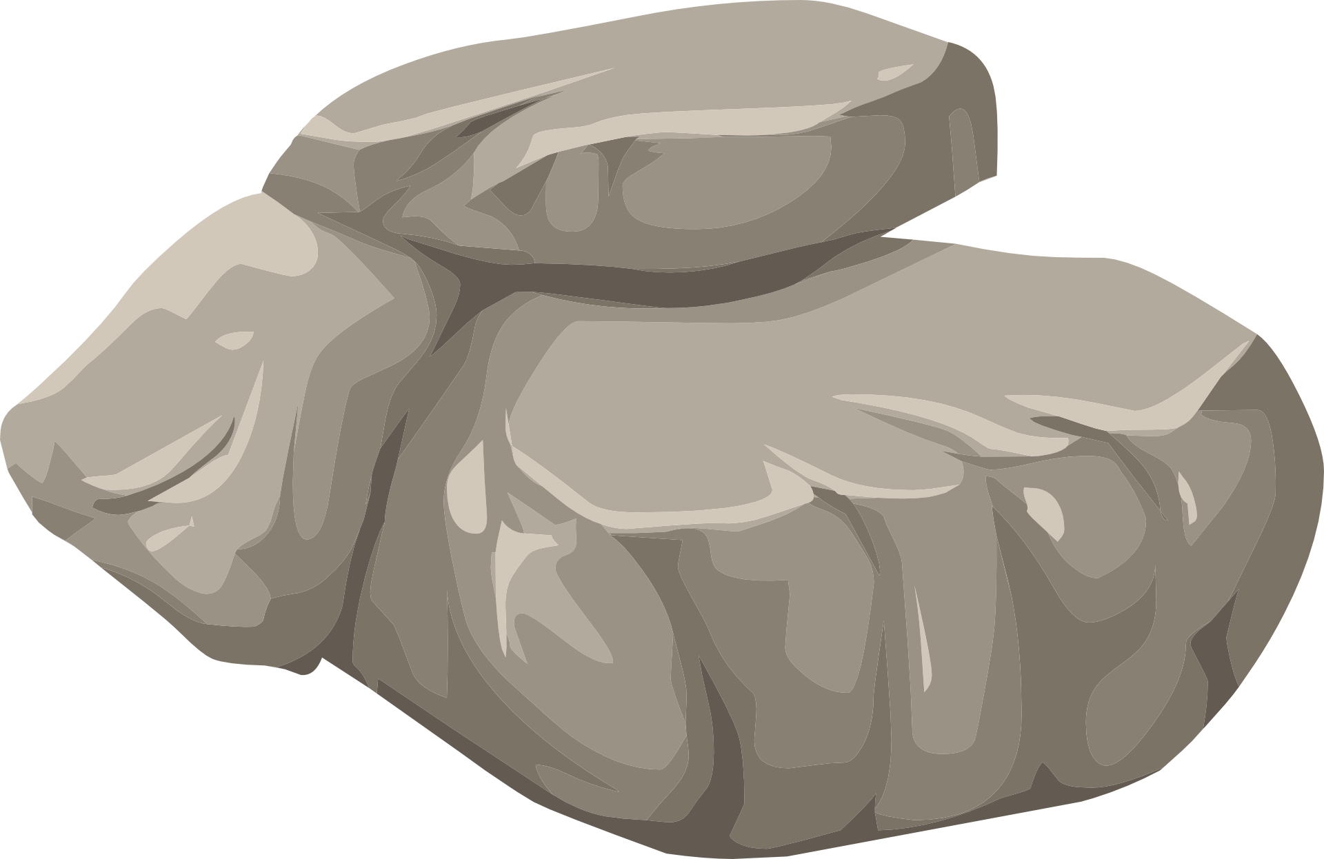 image free library Boulder clipart round stone. Rock nature granite drawing.