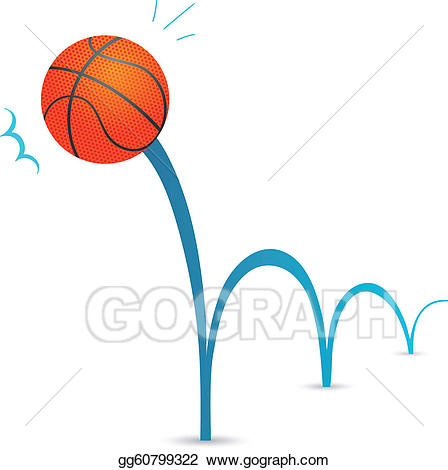 vector transparent Bounce clipart. Vector bouncing ball illustration.