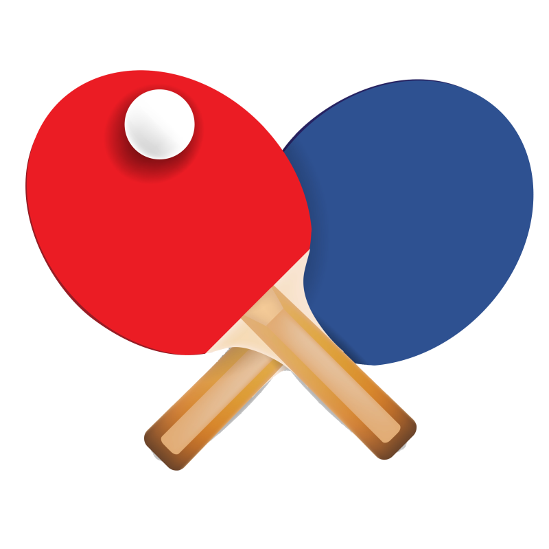 freeuse stock Group red table icon. Bounce clipart ping pong ball
