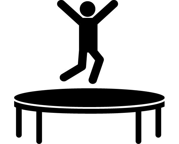clip black and white download Black and white free. Bounce clipart trampoline.
