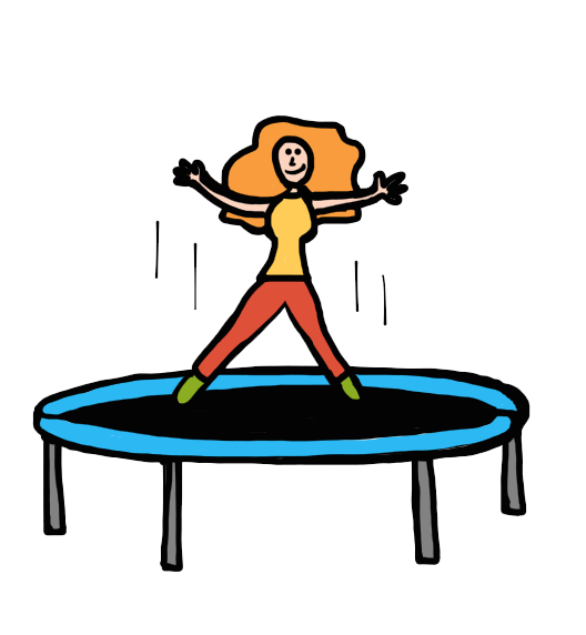 graphic freeuse stock Don t banish the. Bounce clipart trampoline.