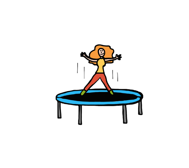 clipart freeuse Don t banish the. Bounce clipart trampoline.