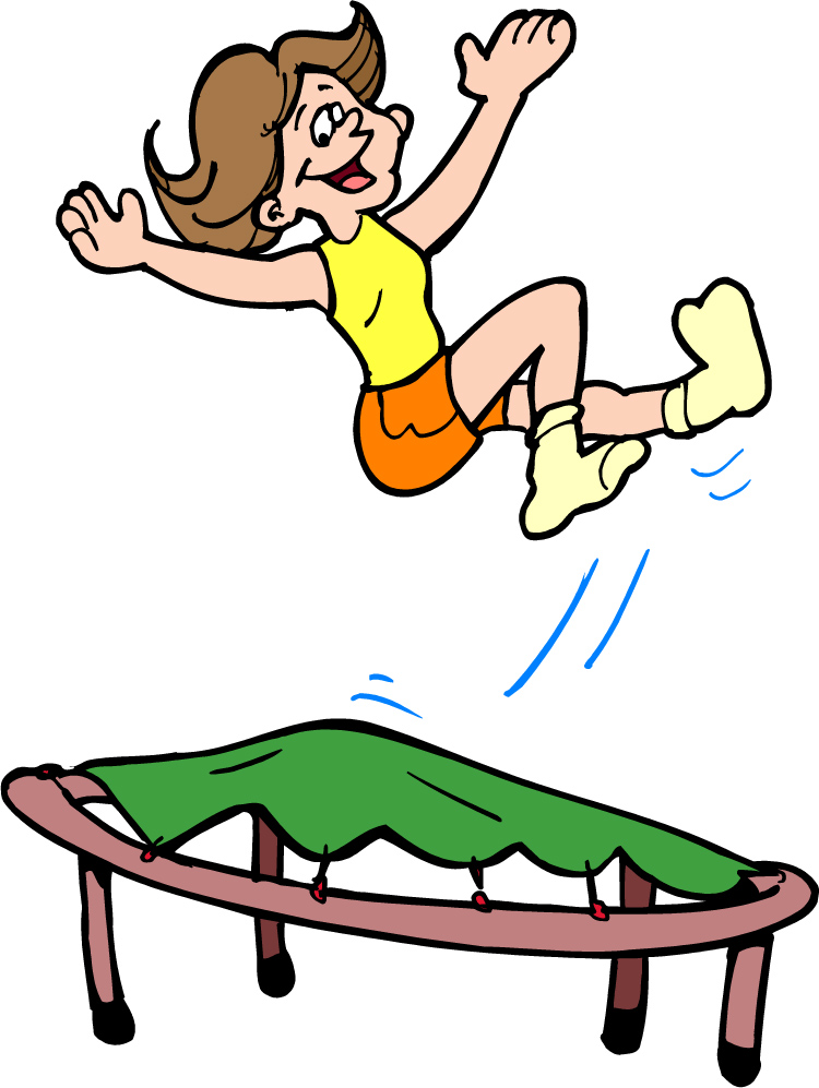 jpg freeuse library Free cute cliparts download. Bounce clipart trampoline.