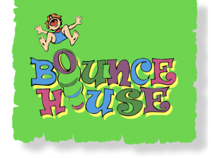 clip art library stock Bounce clipart trampoline. House and laser tag.
