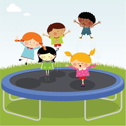 jpg transparent stock Bounce clipart trampoline. Pin on party ideas.