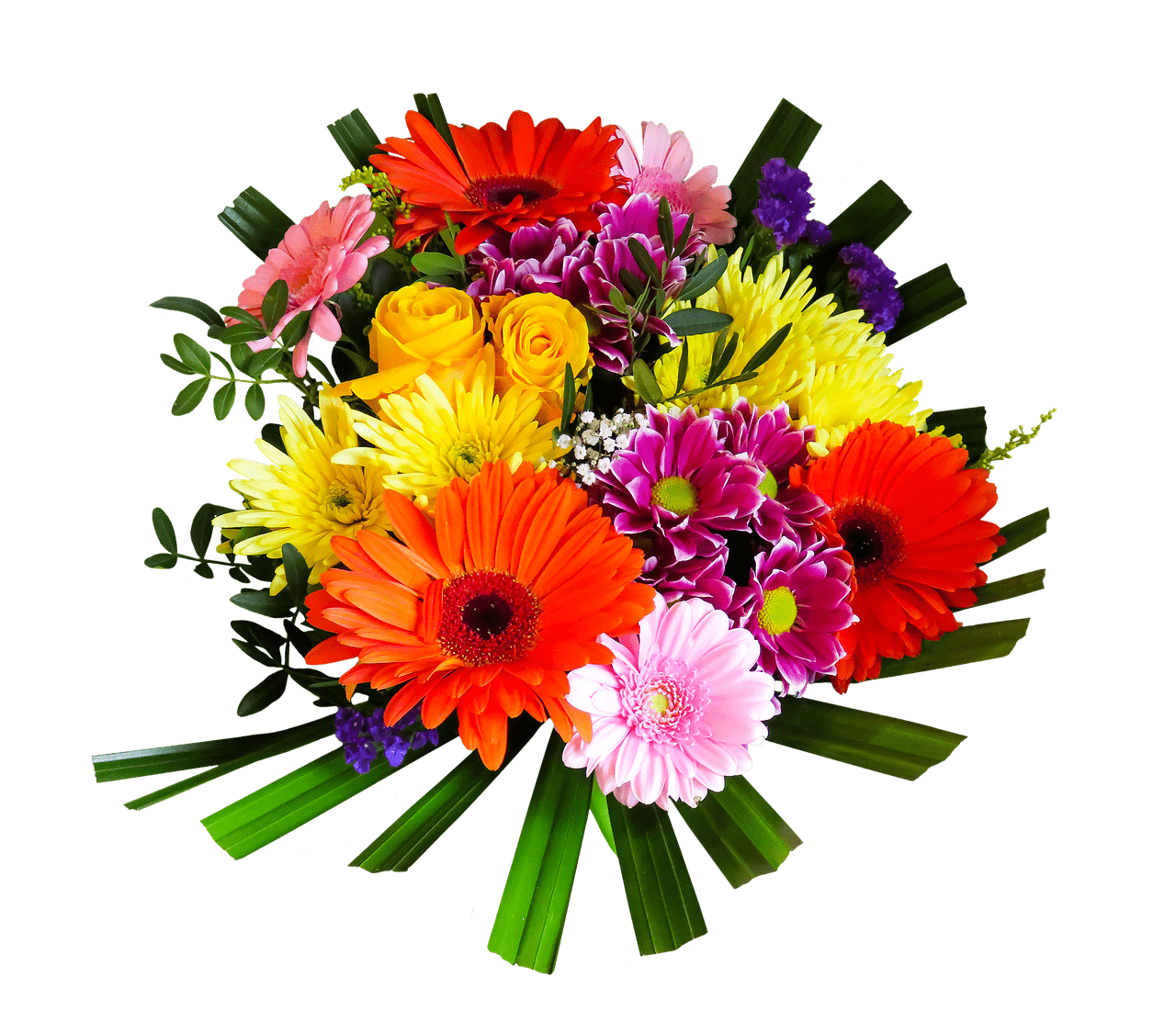 clip art Brightly coloured transparent png. Bouquet clipart bright colored flower