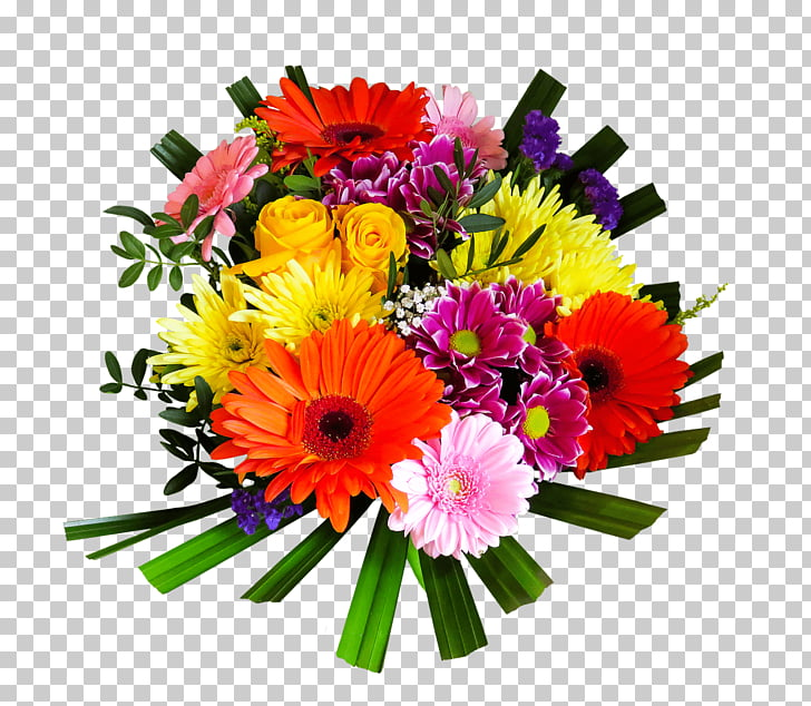 free library Bouquet clipart bright colored flower. Brightly coloured assorted png