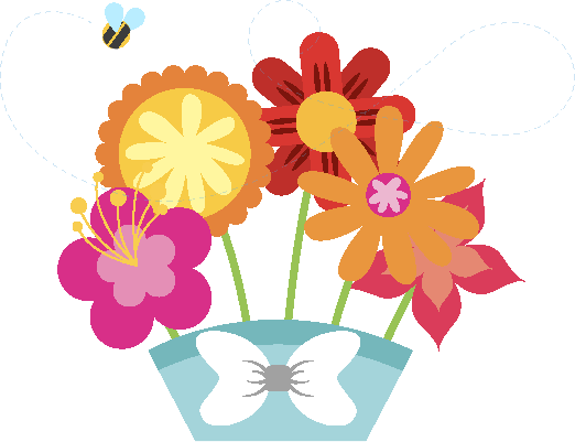clip art black and white library Hidden meanings of flowers. Bouquet clipart colour flower