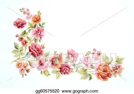 svg library download Bouquet clipart colour flower. Drawing color illustration of