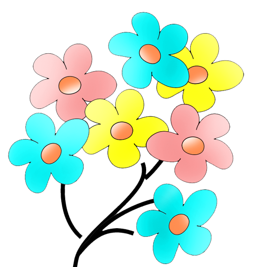 vector free stock Flowers Color Clipart transparent