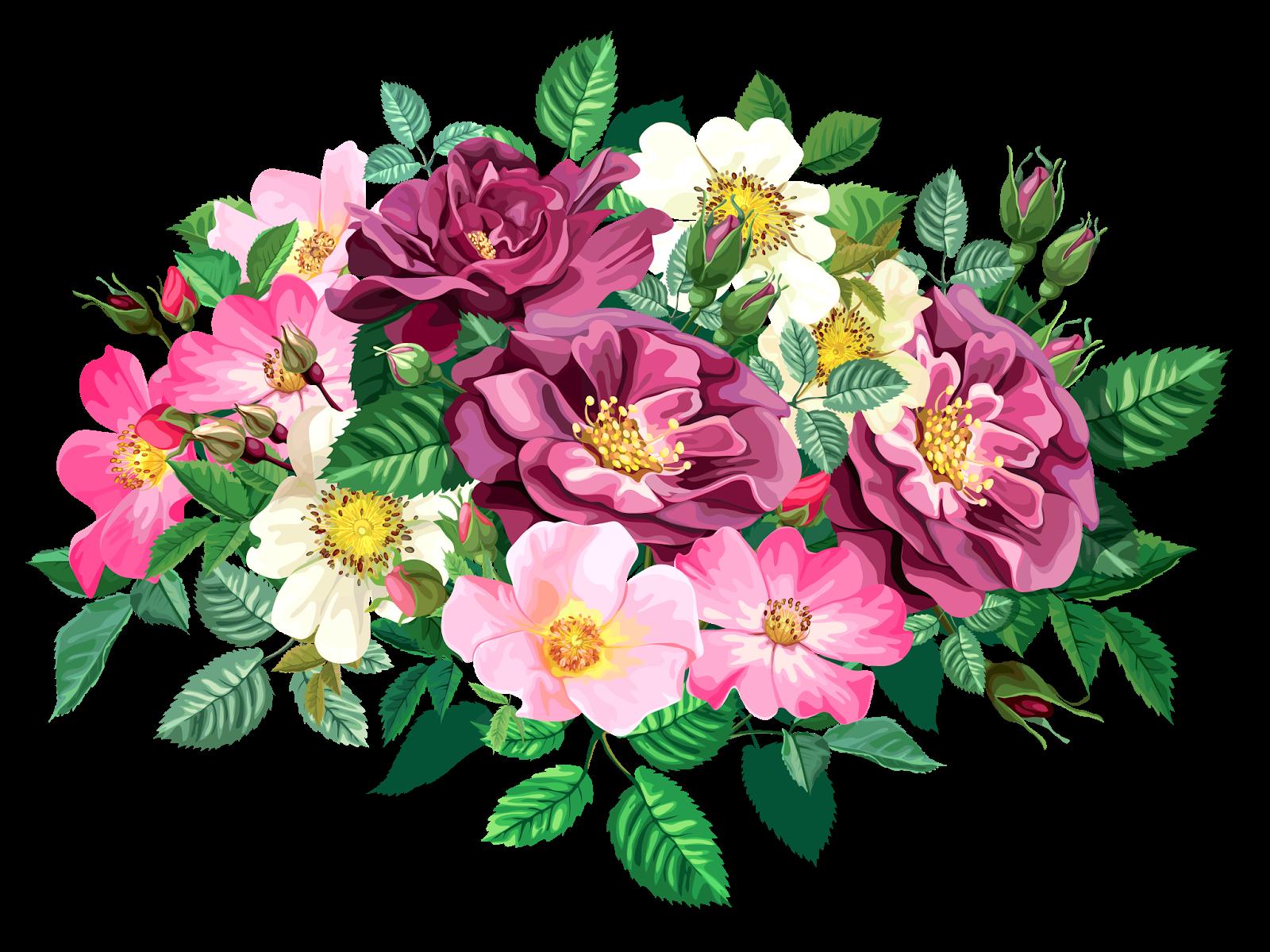 graphic freeuse library Rose cl part transparent. Bouquet clipart colour flower