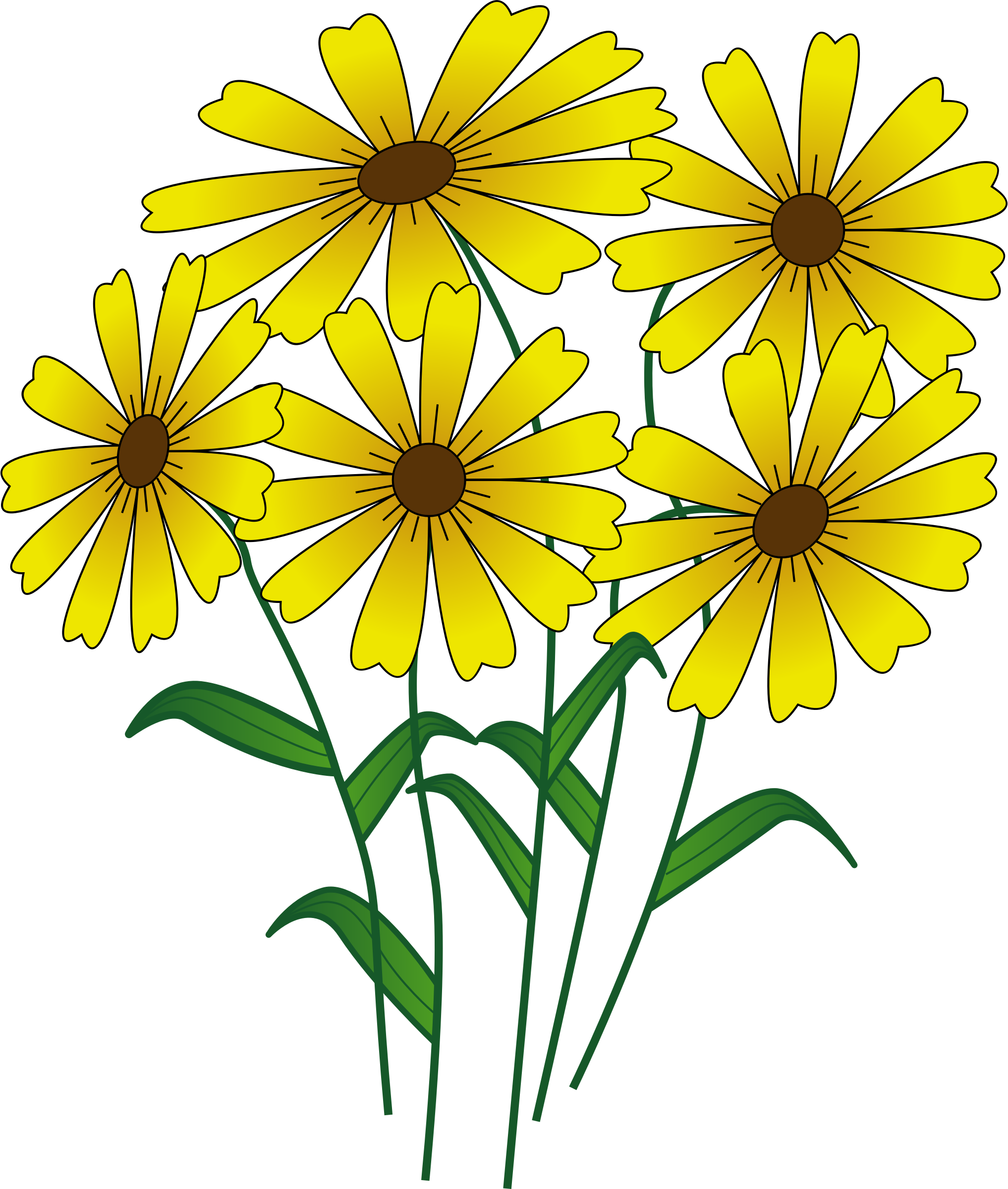 clip art freeuse stock Yellow daffodil free on. Bouquet clipart daffodils