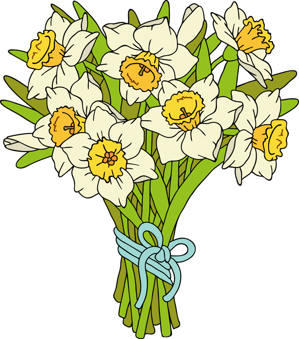 graphic library library bouquet of daffodils