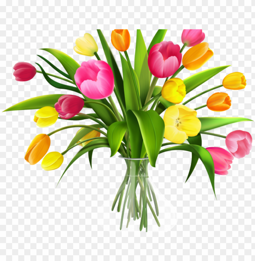 transparent library Tulip transparent background . Bouquet clipart flower bucket.