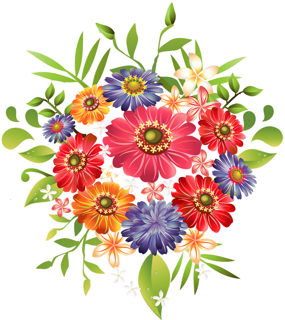 image royalty free download Bouquet clipart flower bucket. Of flowers png images.
