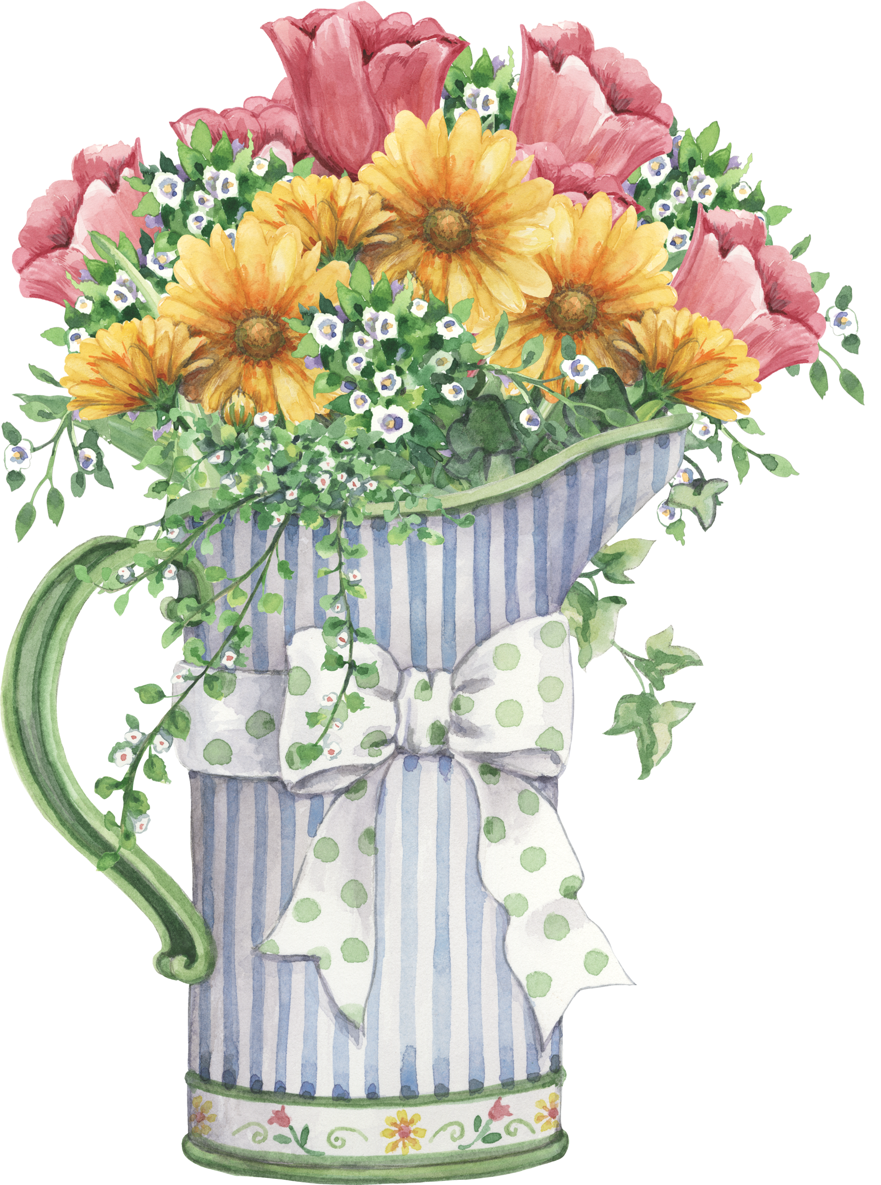 graphic library Image only flowers pinterest. Bouquet clipart flower bucket.