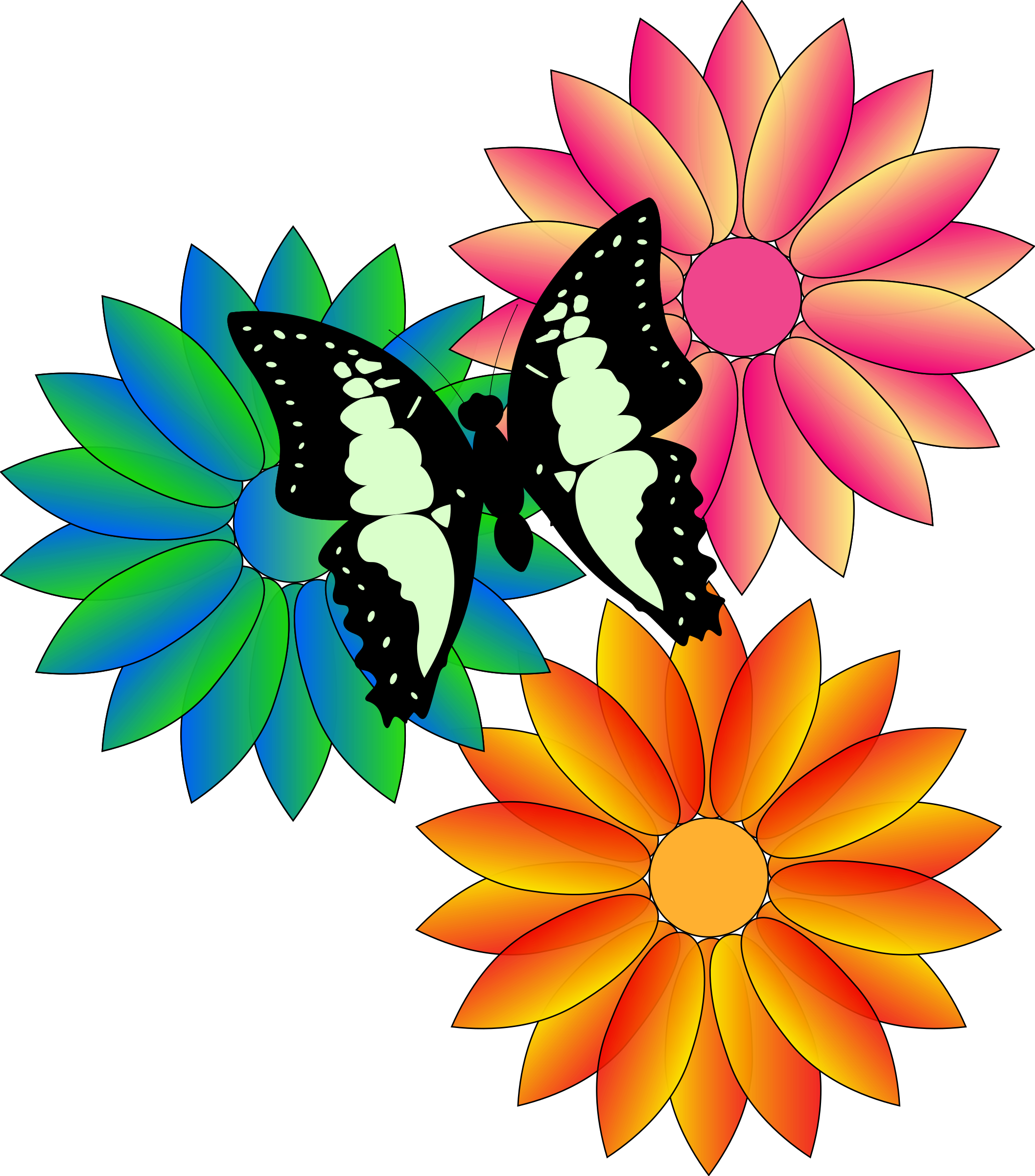 png library Bouquet clipart may flower. Butterfly and flowers icons