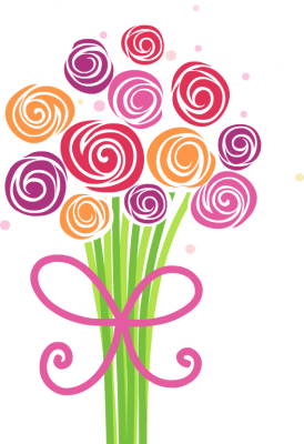 svg black and white Bouquet clipart mother's day bouquet.  b e ac.