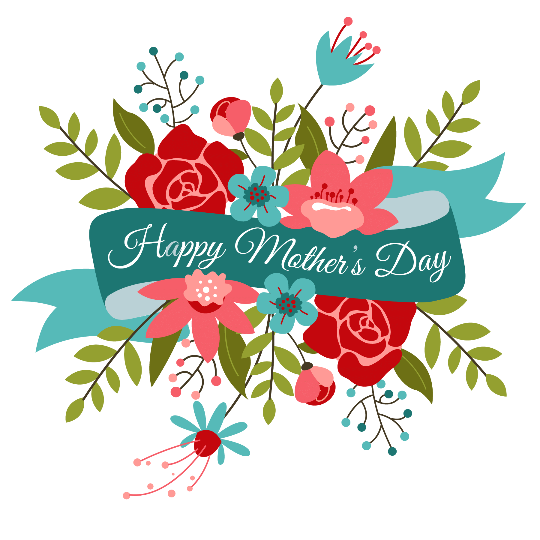 clip art transparent library Bouquet clipart mother's day bouquet. Happy mothers momu .