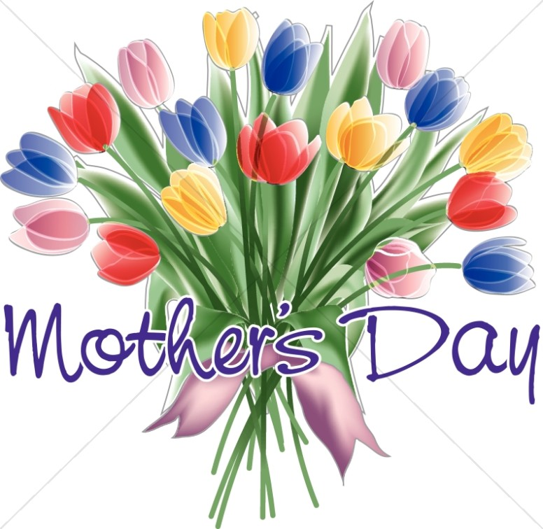 clip Mothers flower borders . Bouquet clipart mother's day bouquet.