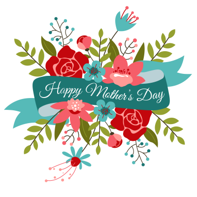 clipart black and white library Download mothers free png. Bouquet clipart mother's day bouquet.