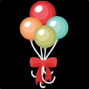 free stock Balloon cuttable scrapbook files. Bouquet clipart svg