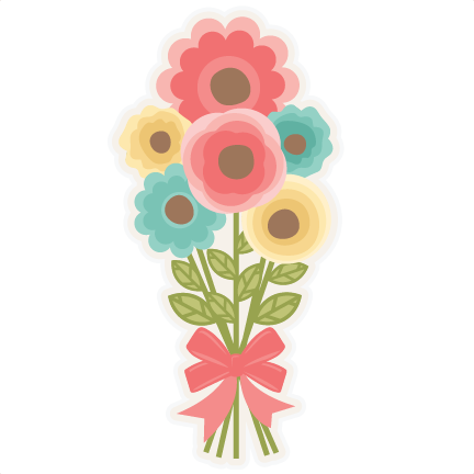 picture free stock Bouquet clipart svg. Large flower bouqet png