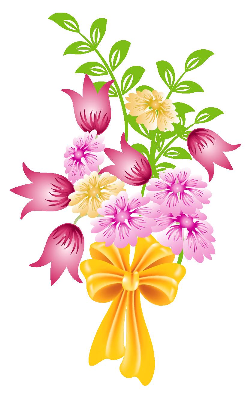 clip art transparent Spring Flower Bouquet Clip Art Background