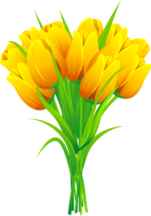 jpg free stock Bouquet clipart tulip. Web design development yellow