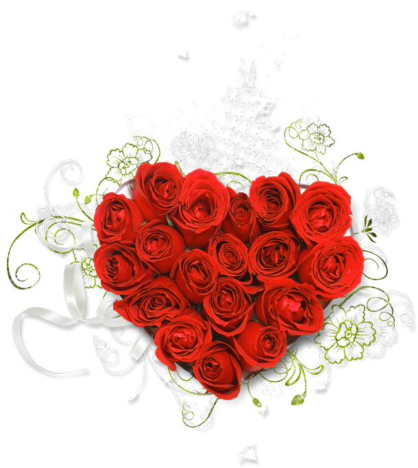 transparent library Red heart of roses. Bouquet clipart valentines day rose