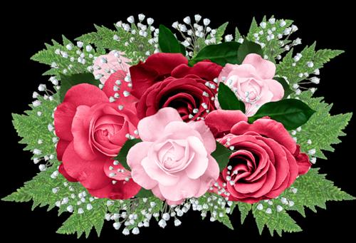 image transparent download Pink Rose Bouquet Clipart