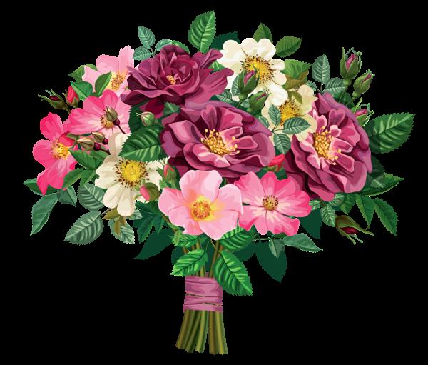 clip free stock Rose Bouquet Transparent Clipart