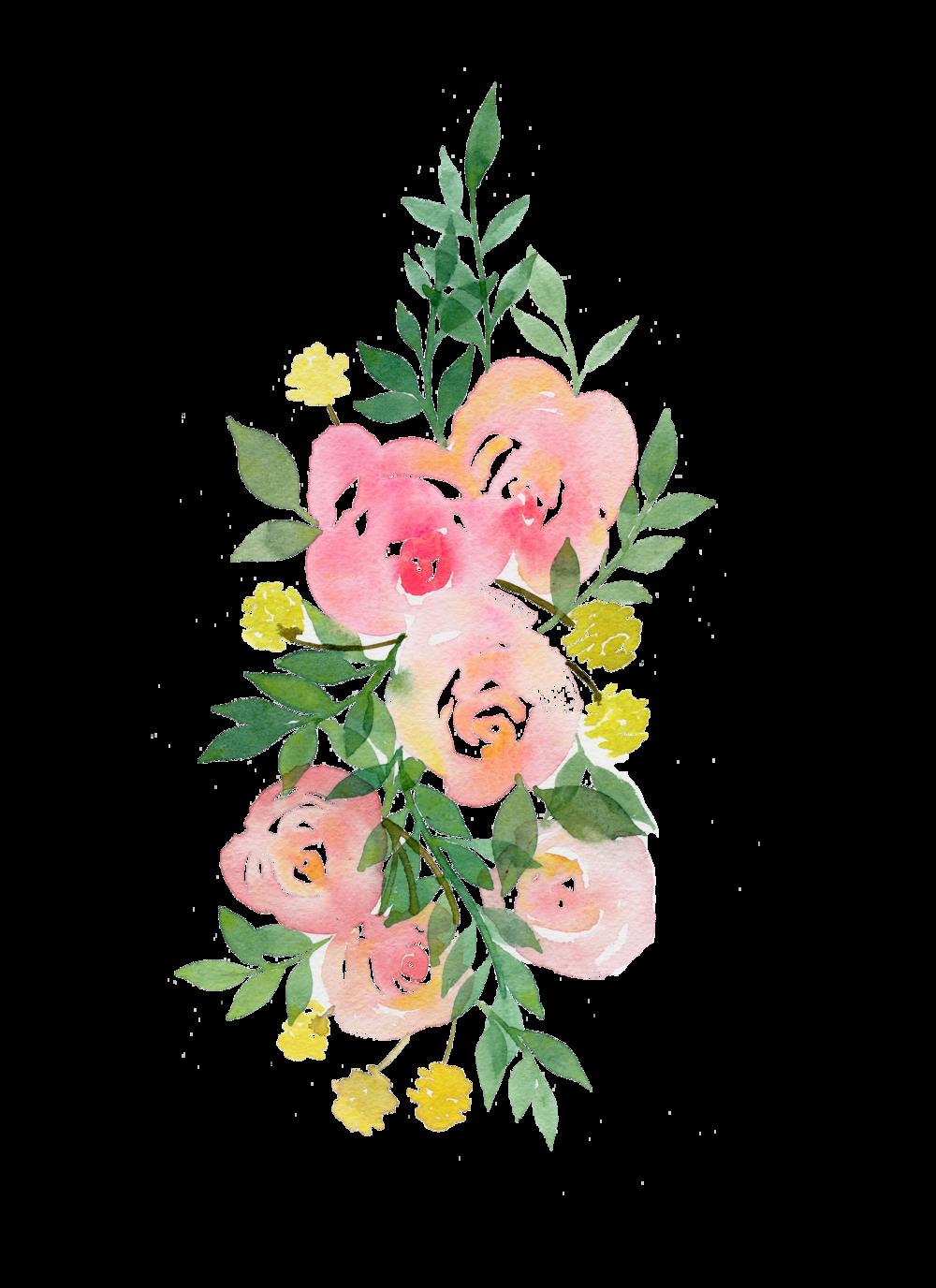 clip art transparent download transparent watercolours floral #106973034