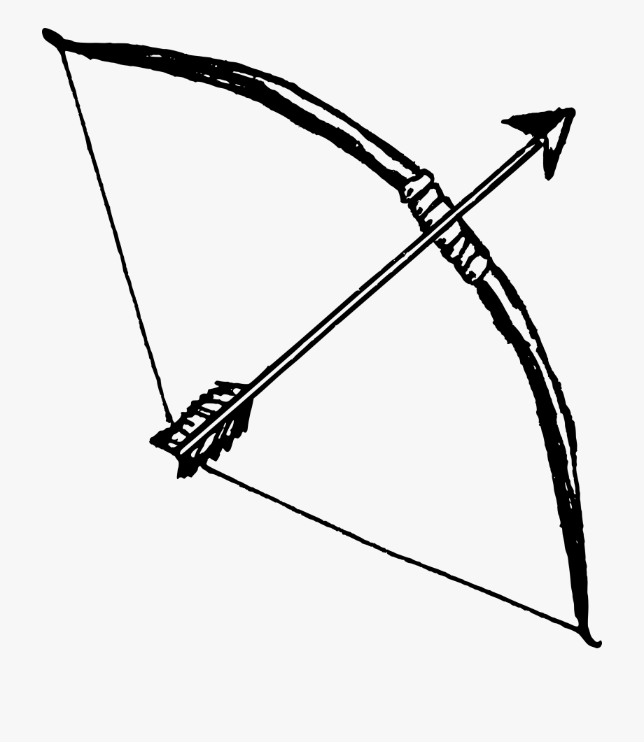 clip black and white library Library hunting transparent . Bow and arrow clipart black and white.