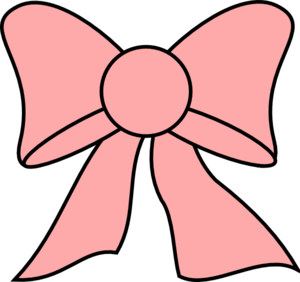 clip art black and white Pink Bow Clip Art at Clker