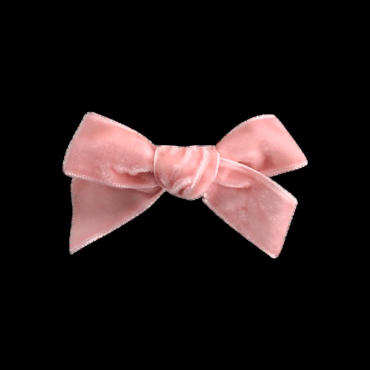 clip library stock Peony French Velvet Bow CLip