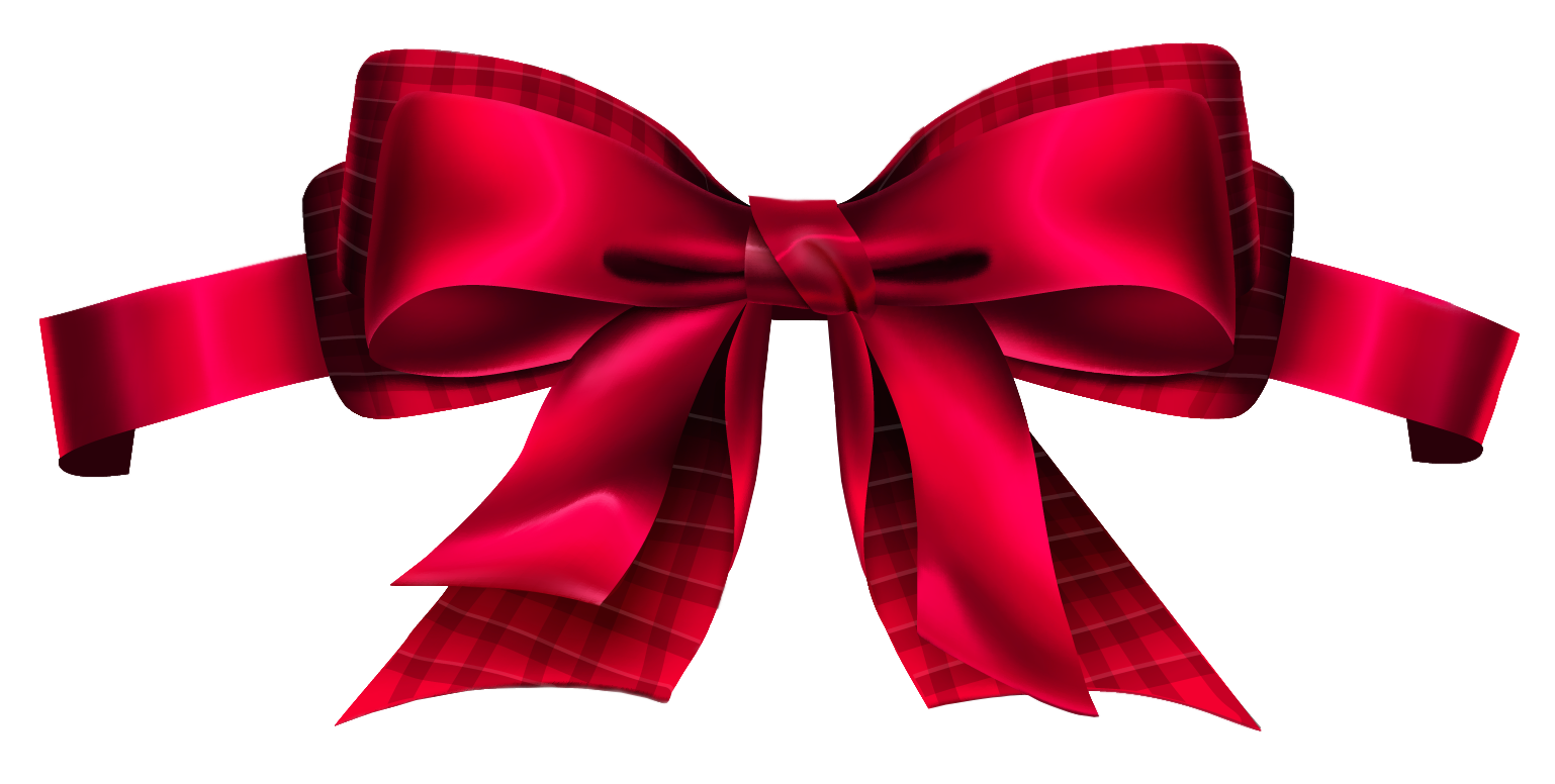 clip download Bow clipart banner. Red checkered png picture