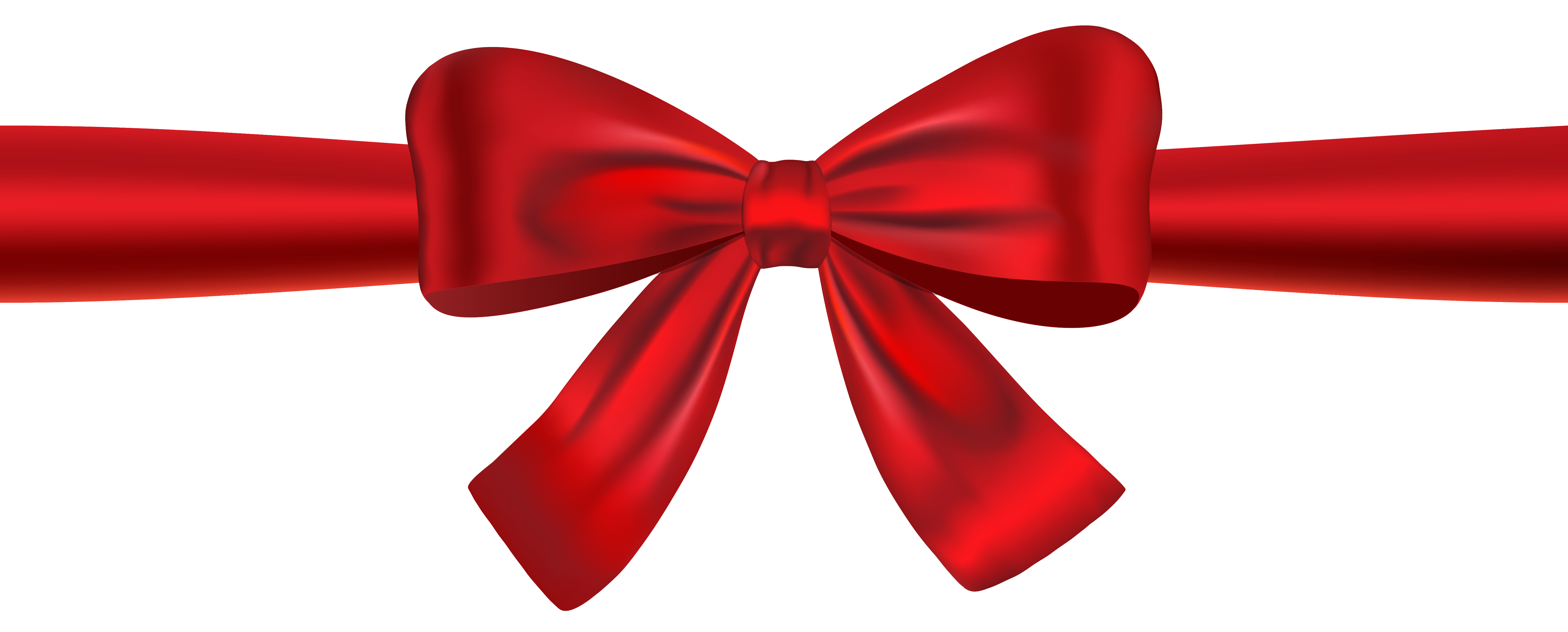 banner royalty free Red Ribbon and Bow PNG Clipart Image