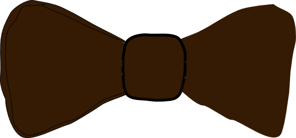 image library Brown bowtie clip art. Bow clipart bow tie.