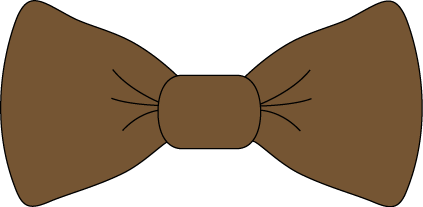 svg royalty free library Bow clipart bow tie. Brown