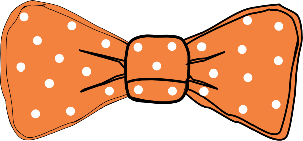 black and white stock Bow clipart bow tie. Orange ties