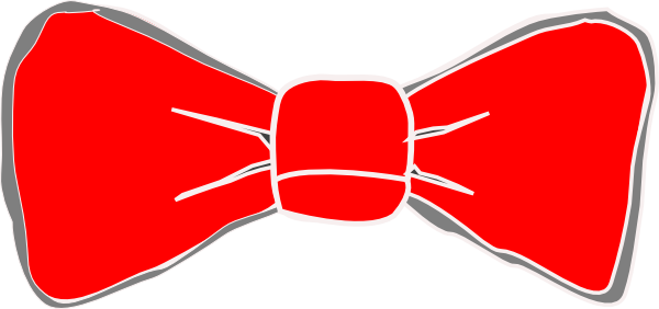 png Bow clip art at. Red bowtie clipart.