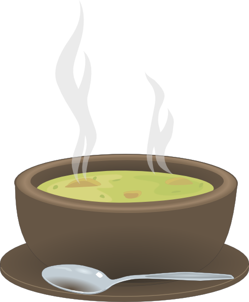clipart royalty free library Bowl clipart animated. Hot steaming of soup