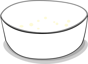 svg transparent download Bowl Clipart Black And White