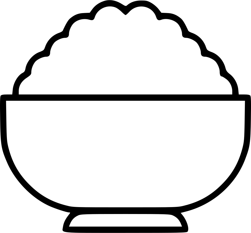 image freeuse download Of rice drawing at. Bowl clipart black and white