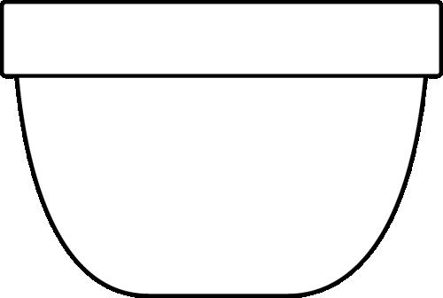 clip art download Clip art image. Bowl clipart black and white