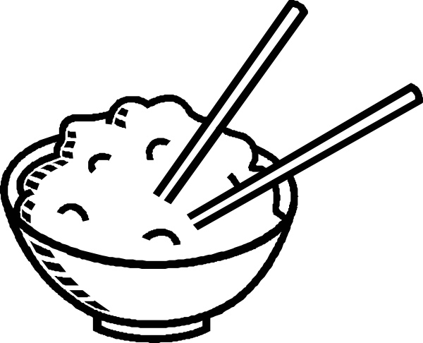 clipart free Rice Bowl Black And White Clip Art at Clker