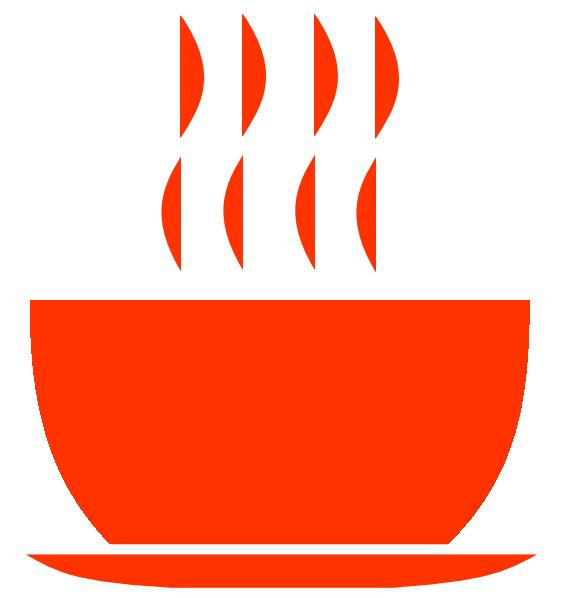 jpg transparent library Orange clip art at. Bowl clipart hot soup